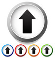 colorful icons with up arrows upward pointing vector image