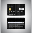 credit cards set with black background design vector image