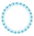 cute blue circle balloon frame for birthday party vector image vector image