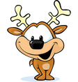cute reindeer on abstract background vector image vector image