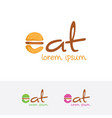 eat logo design vector image