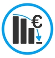 Euro Epic Fail Crisis Rounded Icon vector image vector image