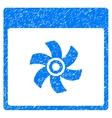 Fan Calendar Page Grainy Texture Icon vector image vector image