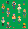 farmer worker people character agriculture person vector image vector image