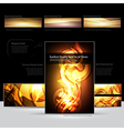Fire document design RGB vector image vector image
