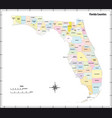 florida state outline administrative map vector image vector image