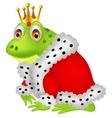 Frog king cartoon vector image vector image