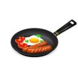 frying egg breakfast vector image vector image