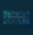 futuristic blue modern horizontal banner in vector image vector image