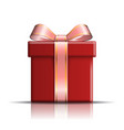 gift box red icon surprise present template vector image vector image