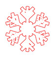 grunge outline snowflake vector image vector image