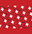 grunge switzerland flag or banner vector image vector image