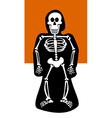 Halloween Background Skeleton dressed in black vector image vector image
