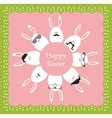happy hipster easter - set stylish bunnyeggs vector image vector image