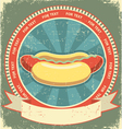 hot dogs vintage vector image vector image