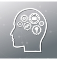 human head and icon set design vector image vector image