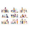 kindergarten flat set vector image