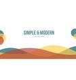modern abstract header website design vector image vector image