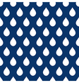 Navy Blue White Water Drops Background vector image vector image