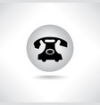 old phone icon retro phone symbol handset sign vector image vector image