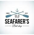 Old Seafarers Bait Shop Vintage Logo vector image