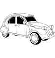 Old vintage car vector image