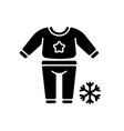 pajama day black glyph icon vector image vector image