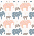 pink and blue kids elephants silhouette seamless vector image