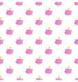 Pink piggy bank pattern cartoon style vector image vector image