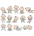 Playful babies vector image vector image