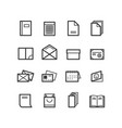 printing house icons vector image vector image