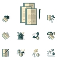 Rent of property flat color icons vector image vector image