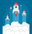 rockets take off into space vector image