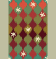seamless geometric ikat pattern with vector image vector image
