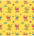 seamless pattern with cute bacarriages vector image vector image