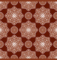 seamless red and white mandala pattern vector image vector image