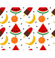 seamless texture ice cream with fruit vector image vector image