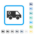 service car framed icon vector image vector image