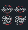 set bakery bake shop and bread shop logos vector image vector image
