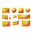 set butane flags banners banners symbols flat vector image vector image