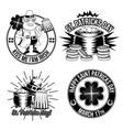 set st patricks emblems vector image vector image