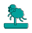 sheep toy icon image vector image