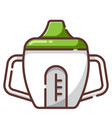 sippy cup linecolor vector image