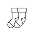 socks line icon sign vector image vector image