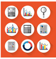 statistic data tools finance diagram and graphic vector image vector image