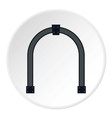 Steel arch icon flat style vector image vector image