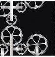 Technical background Abstract gear vector image vector image