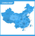 the detailed map of the china with regions or vector image