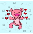Valentine day bear character collection vector image vector image