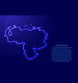venezuela map from luminous blue star space vector image